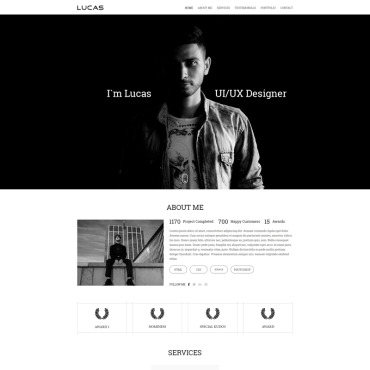 Preview image of Lucas Portfolio-Onepage