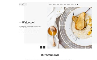 Savory Eat - Delicious Restaurant & Cafe Joomla Template