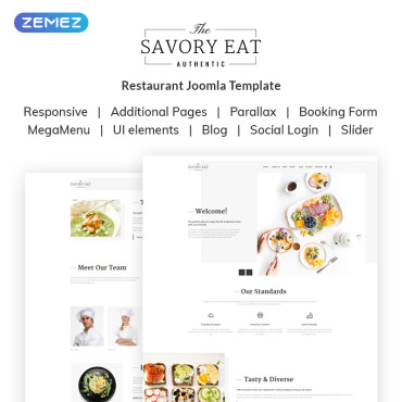Preview image of Savory Eat - Delicious Restaurant & Cafe