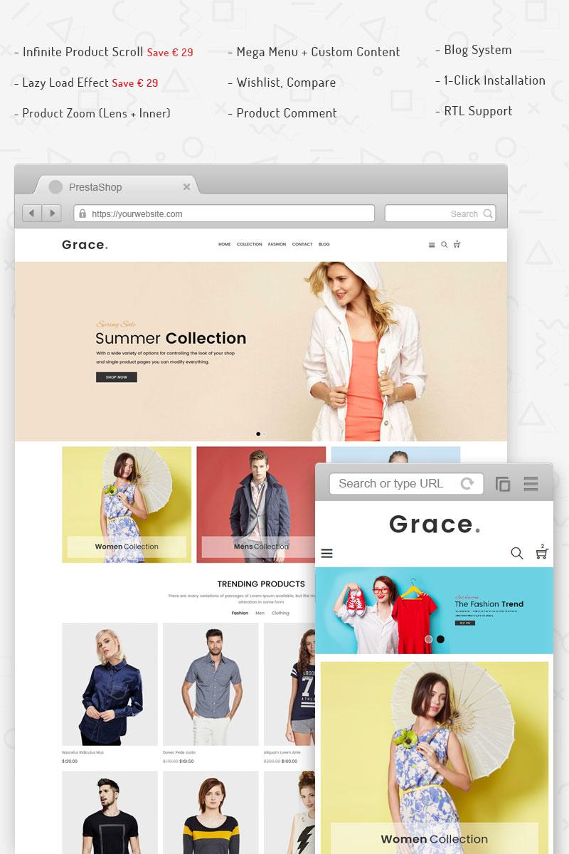 Bootstrap szablon PrestaShop Grace - Responsive #69687 - zrzut ekranu
