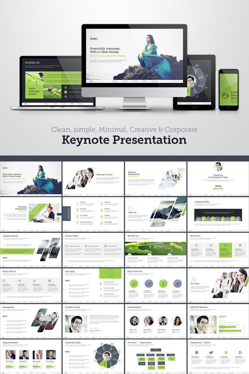 Clean-simple & corporate Keynote Template