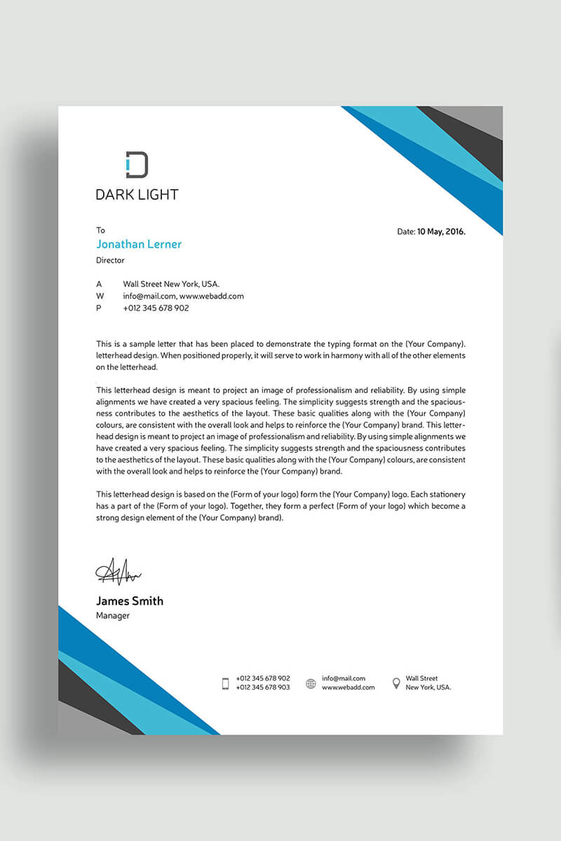 elegant letterhead corporate identity template  69617