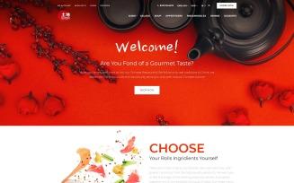 Japanese Restaurant - Bright Sushi Food Restaurant OpenCart Template