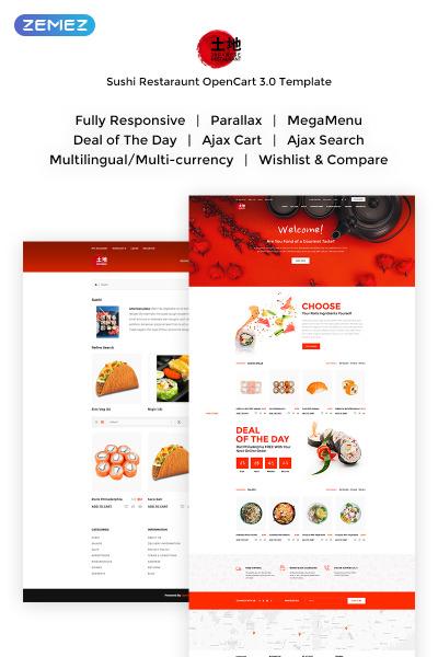 Thème OpenCart adaptatif  pour restaurant japonais