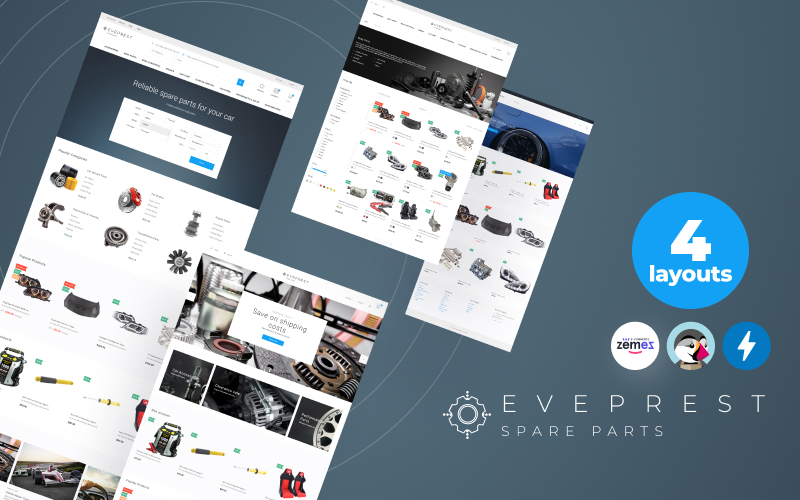 Responsivt Eveprest Spare Parts 1.7 - A Better Way Forward PrestaShop-tema #69692