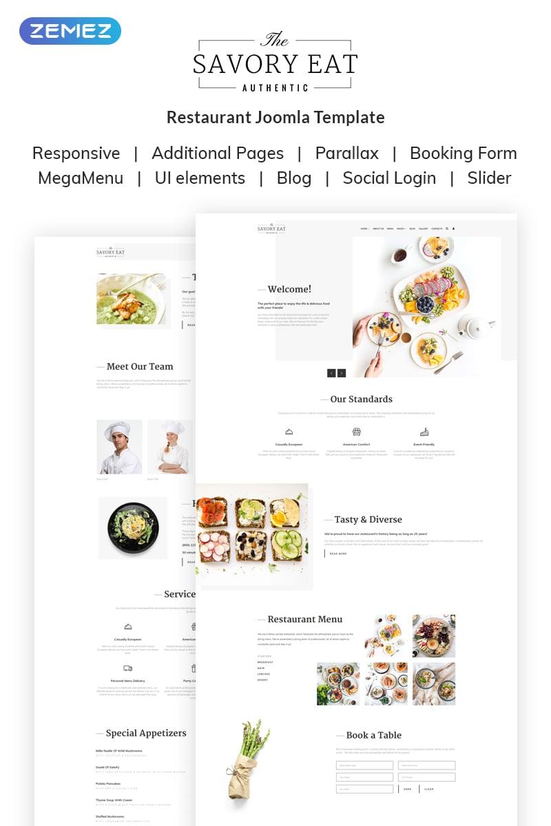 Reszponzív Savory Eat - Delicious Restaurant & Cafe Joomla sablon 69690 - képernyőkép
