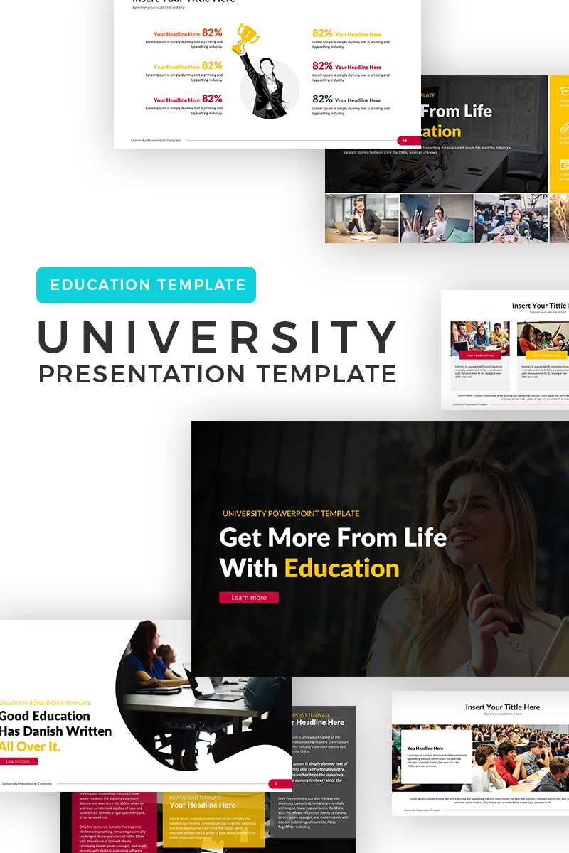University - Education PowerPoint Template - screenshot