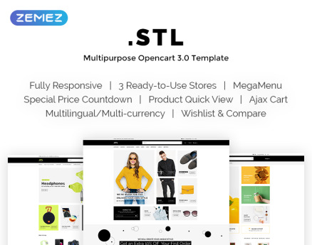 .STL - Women's Clothing Shop Responsive OpenCart Template