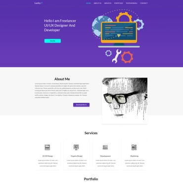 Preview image of Lucky 7 Onepage Portfolio
