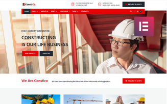 Constico - Construction WordPress Elementor Theme
