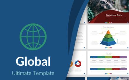 Global Presentation PowerPoint Template