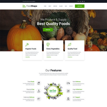 Preview image of Foodshape Vegetable Delivery Service Company