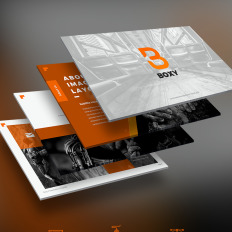 Powerpoint templates baby themes template monster boxy creative powerpoint template summer toneelgroepblik Images