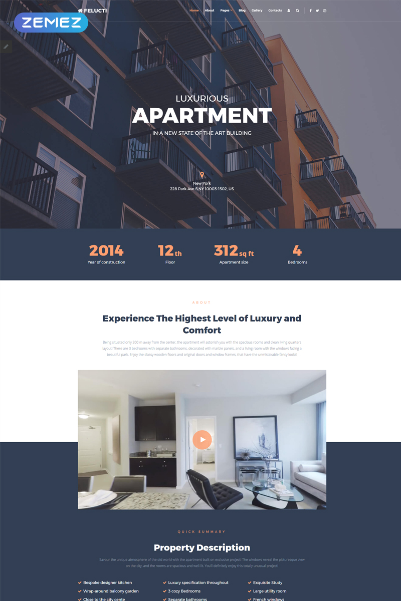 Felucti - Real Estate Creative Joomla Template