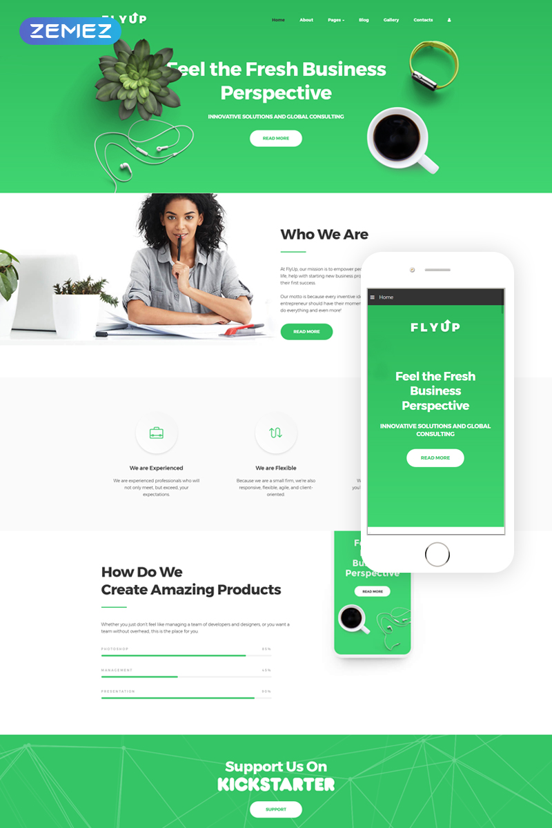 FlyUp - Startup Business Consulting Modern Joomla Template