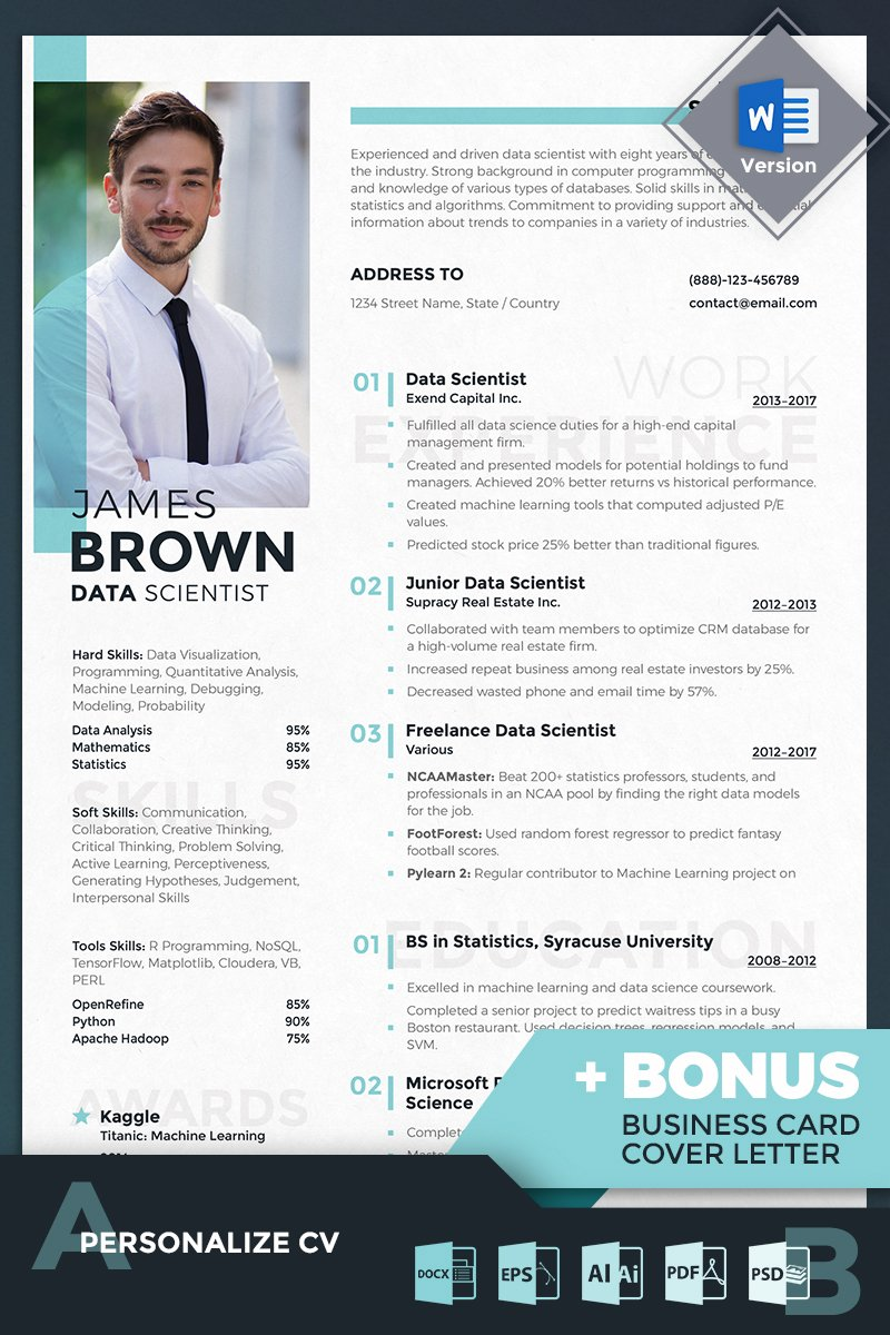 James Brown - Data Scientist Resume Template