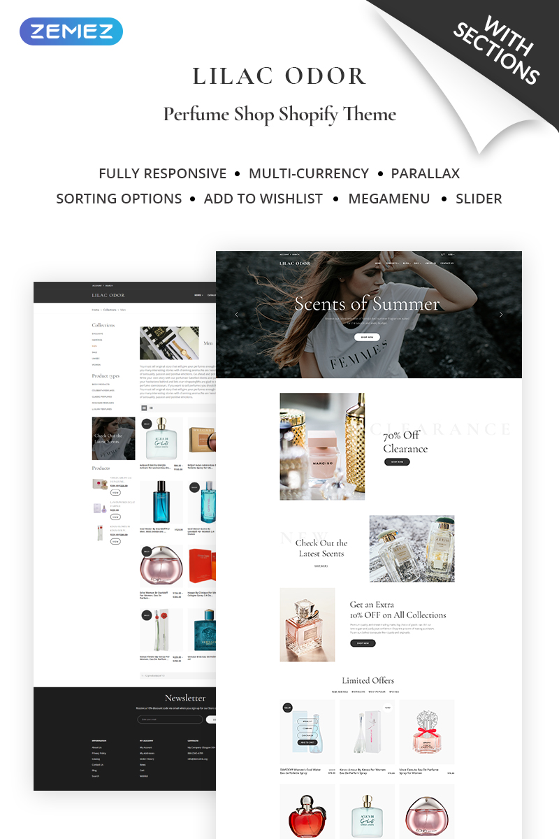 Lilac Odor - Perfume Shop Shopify Theme - screenshot