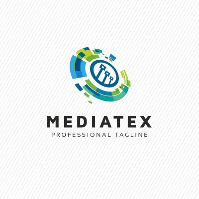 Mediatex Abstract Comm Logo Template 69757