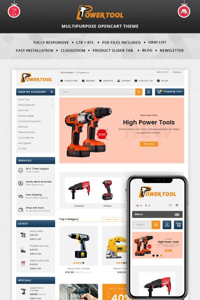 Адаптивный OpenCart шаблон №69726 на тему инструменты и оборудование