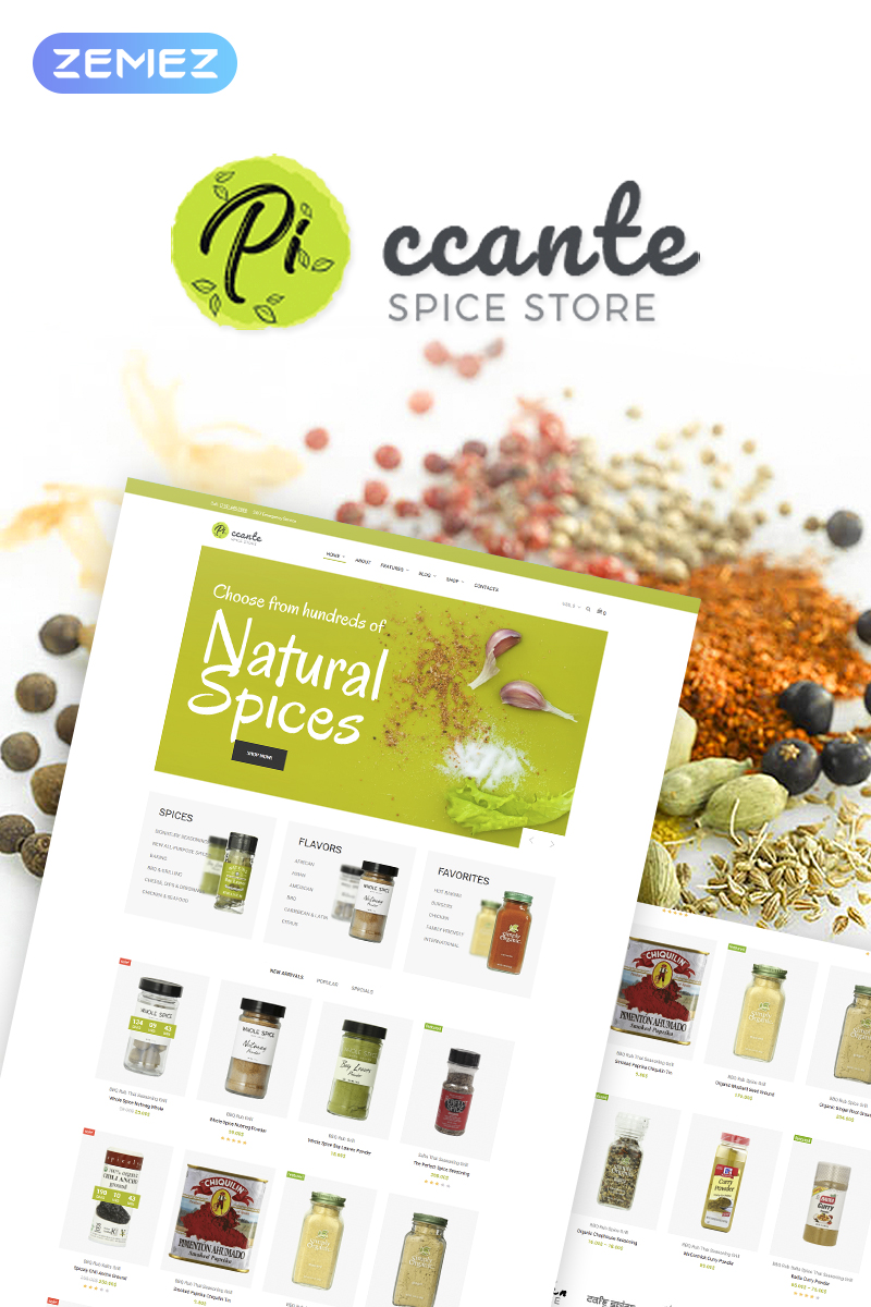Piccante - Spices Store Elementor WooCommerce Theme