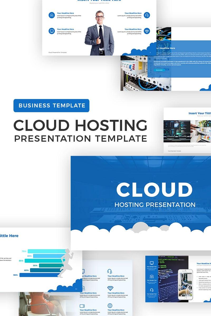 "Plantilla PowerPoint ""Cloud Hosting"" #69797"