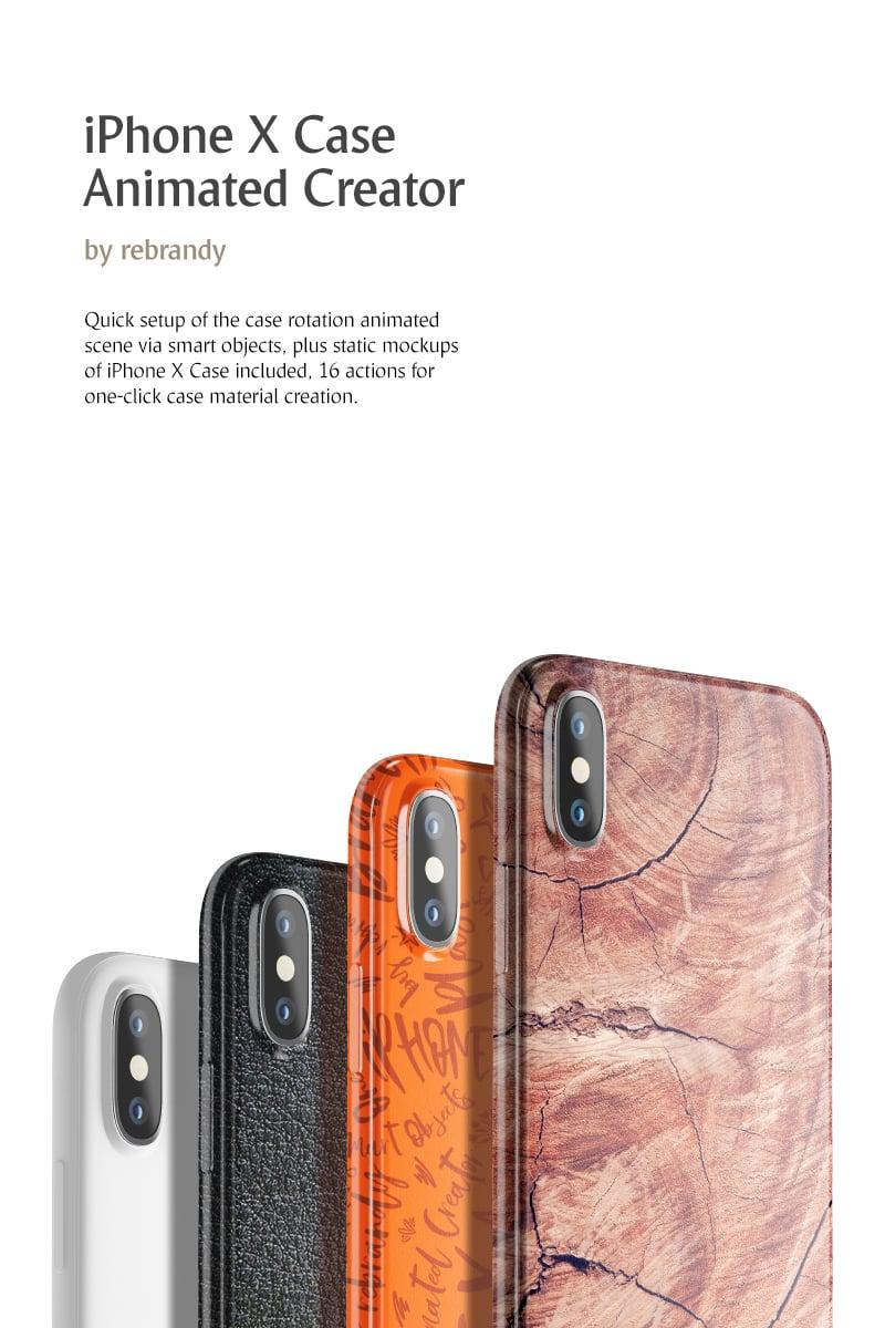 Produktowy mockup iPhone X Case Animated Creator #69720 - zrzut ekranu