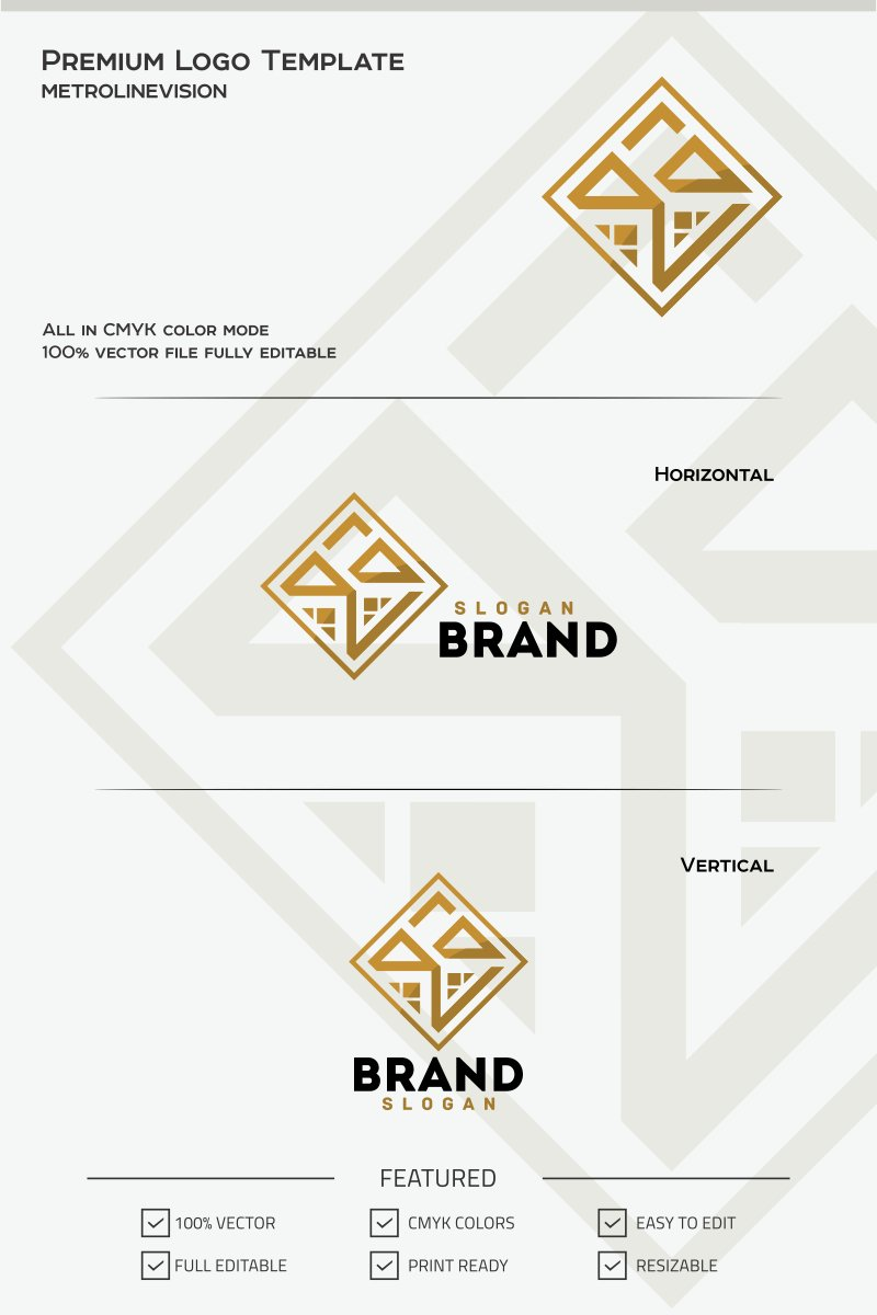 real estate logo template 69799