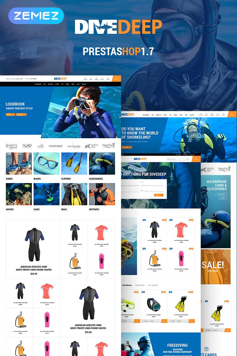 Responsywny szablon PrestaShop DiveDeep - Snorkeling Equipment #69781 - zrzut ekranu