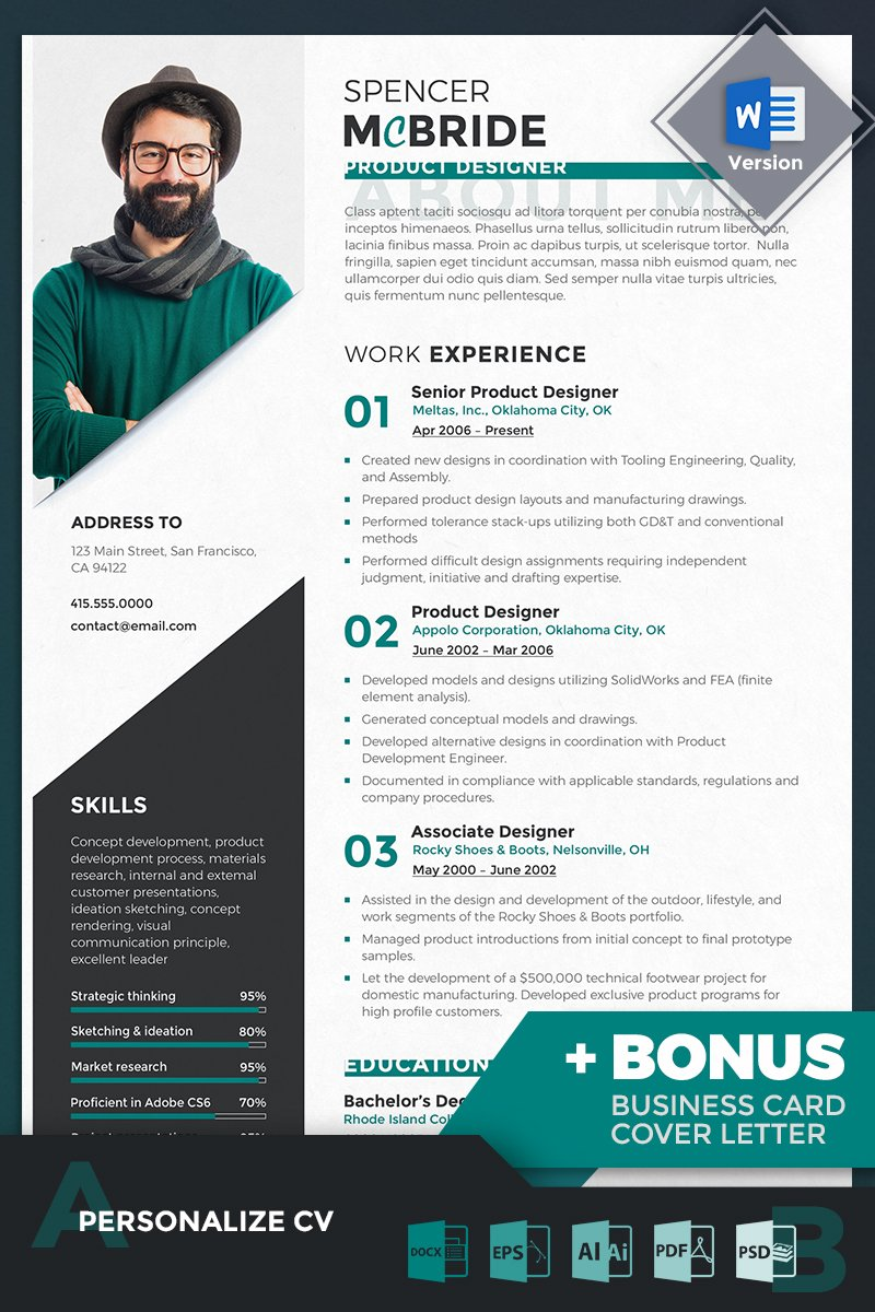 Spencer Mcbride Product Designer Resume Template 69714