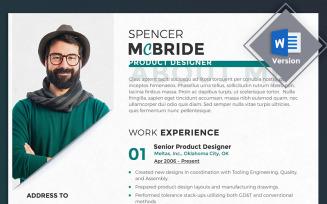 Spencer McBride - Product Designer Resume Template