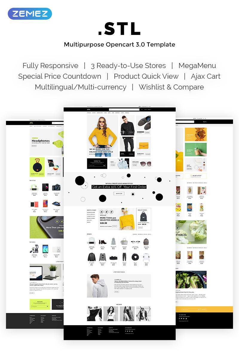 """.STL - Women's Clothing Shop Responsive"" 响应式OpenCart模板 #69710"