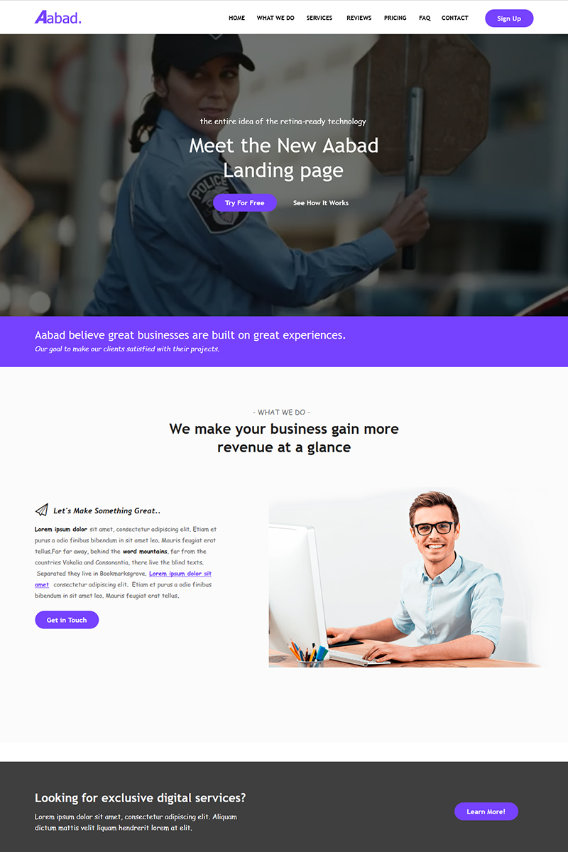 "Tema Unbounce #69774 ""Aabad - Multi-Purpose"""