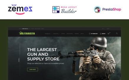 Militarista - Weapons Store PrestaShop Theme