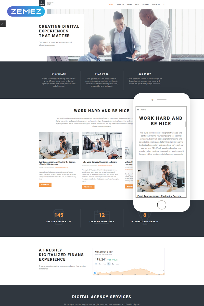 Flash - Digital Marketing Agency Template Joomla №69862
