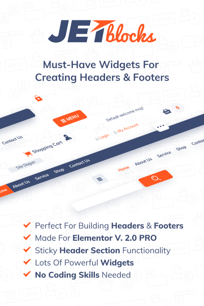 JetBlocks -  Elementor Header & Footer Widgets WordPress Plugin #69867