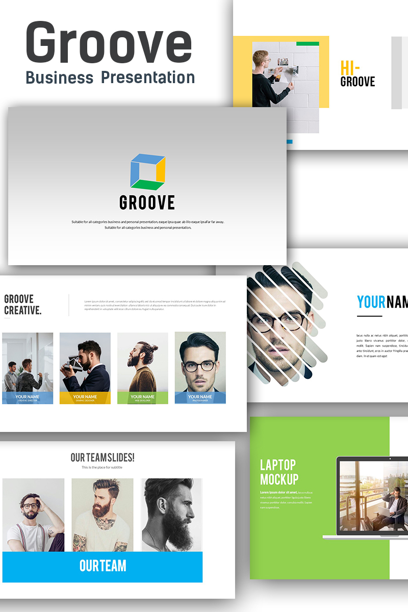 "Modello PowerPoint Responsive #69860 ""Groove Business"""