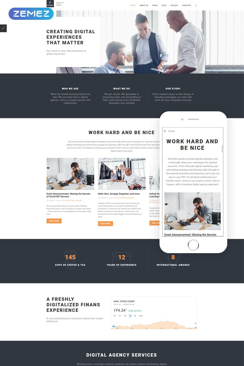 "Plantilla Joomla ""Flash - Digital Marketing Agency"" #69862"