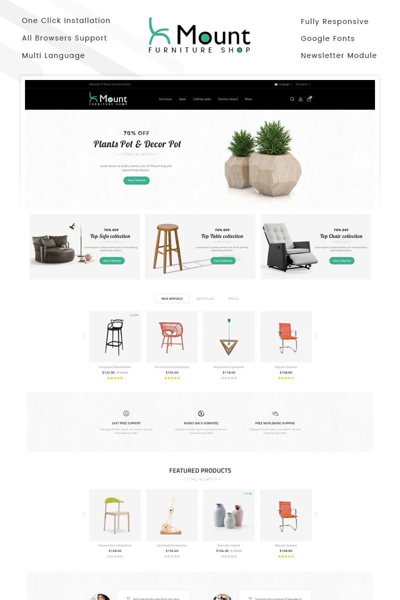 """Plantilla OpenCart """"Mount - Furniture Store"""" #69882 - captura de pantalla"""