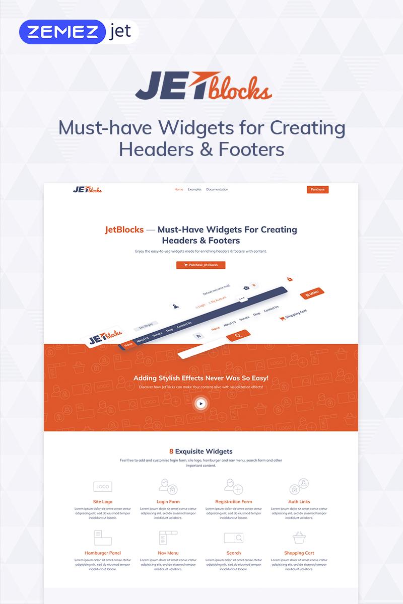 """Tema Plugin per WordPress #69867 """"JetBlocks - Widget Header e Footer per il plugin di Wordpress Elementor"""""""