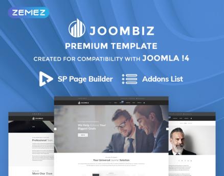 Joombiz - Elegant Business Company Joomla Template