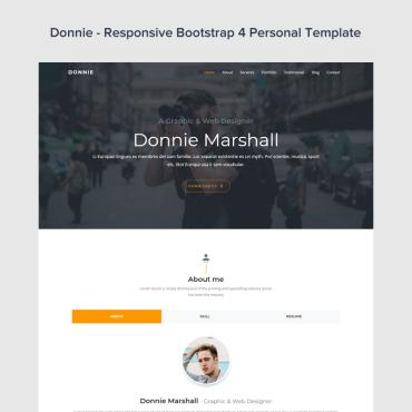 Preview image of Donnie - Bootstrap 4 Personal