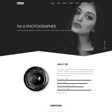 Preview image of Black Creative One Page Portfolio