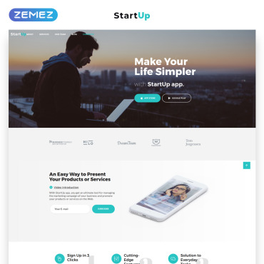 Preview image of StartUp - Business Startup Company HTML5