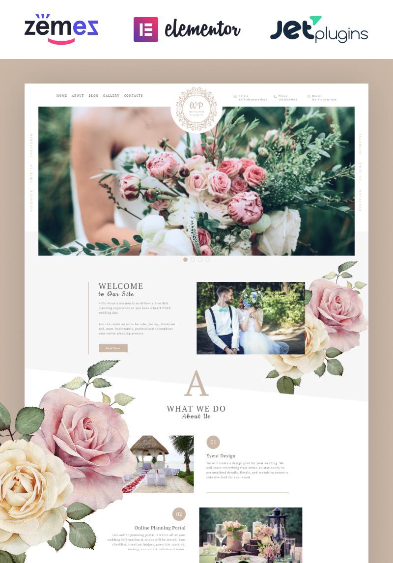 Belle Fleur Wedding Landing Elementor Wordpress Theme