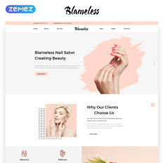 Nail Salon Website Templates