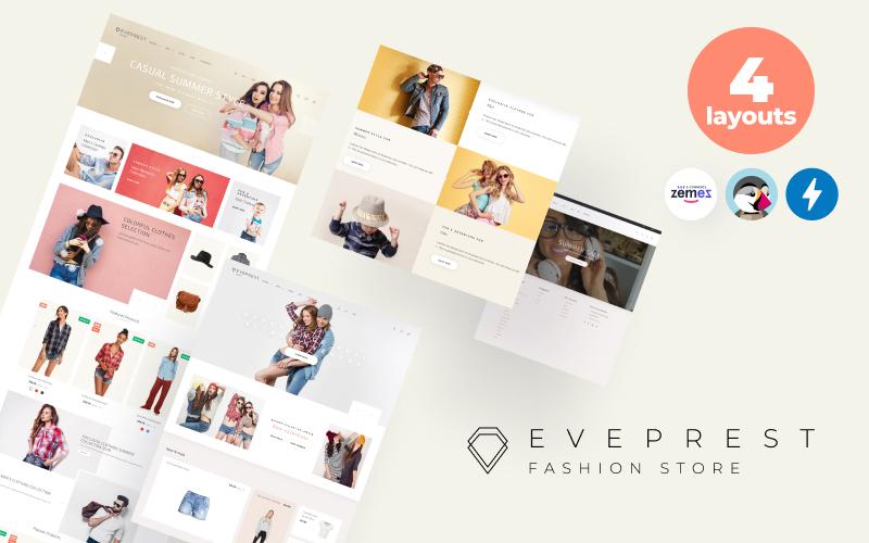 """""""Eveprest Fashion 1.7 - Fashion Store"""" Responsive PrestaShop Thema №69941"""