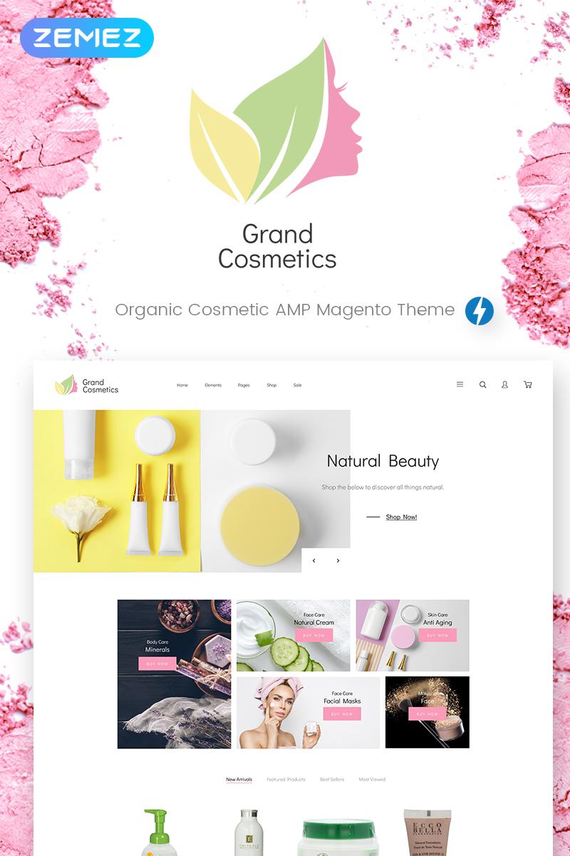 """GrandCosmetics - Cosmetics Store"" - адаптивний Magento шаблон №69902"