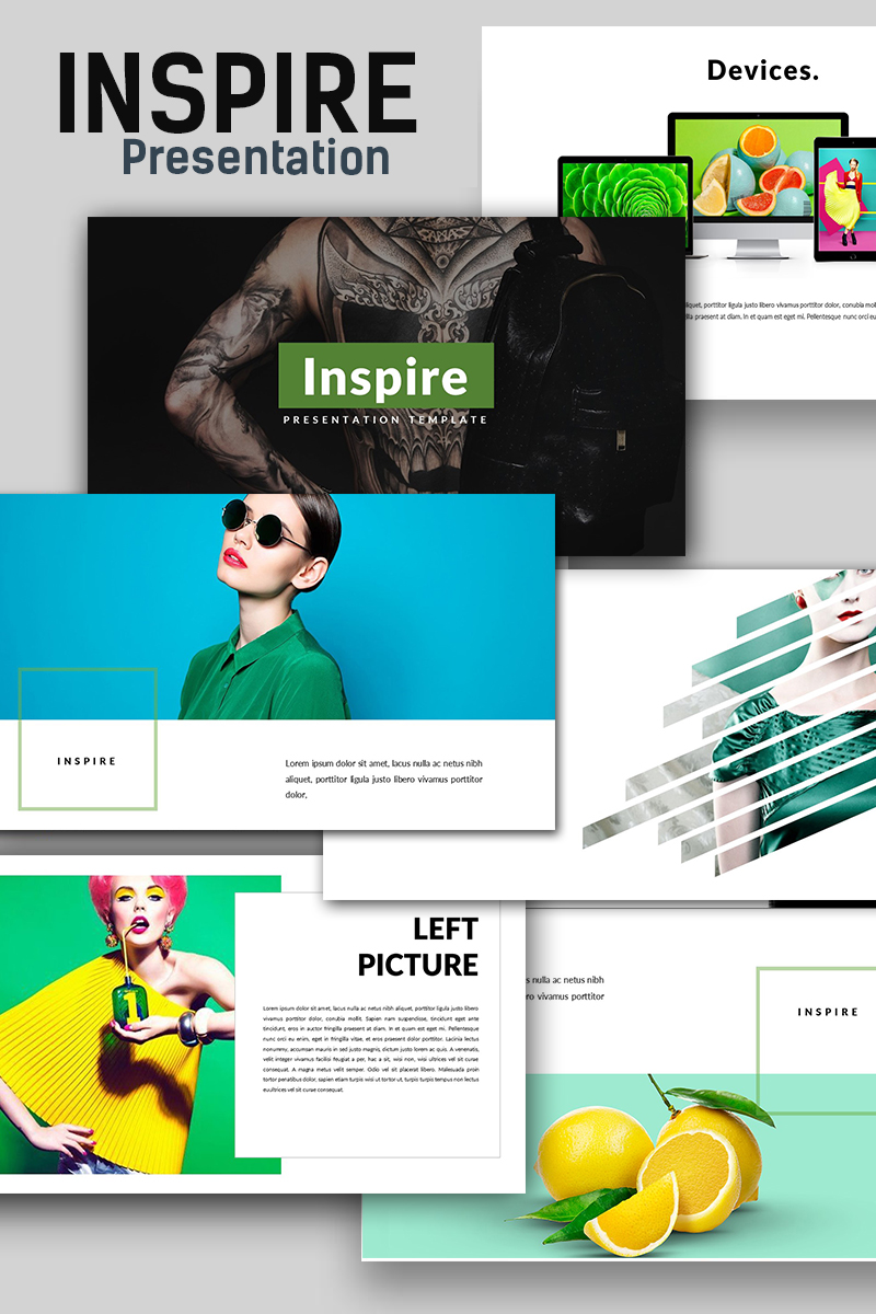 """Inspire Presentation"" PowerPoint Template №69992"