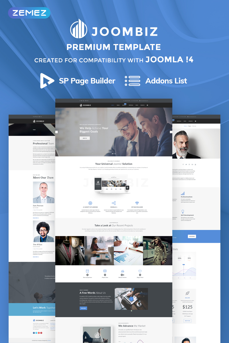 "Joomla Vorlage namens ""Joombiz - Elegant Business Company"" #69909 - Screenshot"