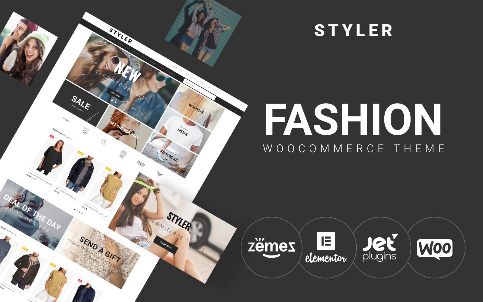 "Modello WooCommerce Responsive #69932 ""Styler - Fashion"""